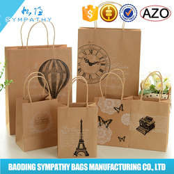 Newest shopping paper bag,cheap Kraft paper bags,craft paper shopping bag