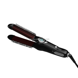 New Design Professional Hair Straighener Flat Iron with curler brush