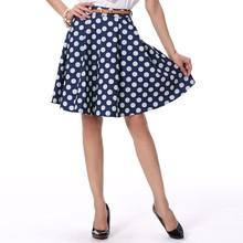 2015 Girls Fancy Blue Dress Dots Cool A-Line Skirts