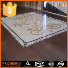Elegence decoration flower design waterjet medallion lowes linoleum