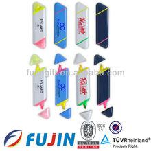 2 em 1 double ended marcador / marcador caneta para promoção fluorescente pen presente / modelo de formas geométricas