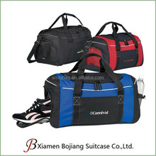 Customize Polyester Sport Gear Gym Duffle Bag with shoe compartment