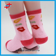 Children terry sock pink lovely soft and warm