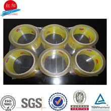 50Y bopp acrylic crystal clear low noise 72mm packaging tape