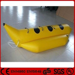 Best selling 0.9mm PVC single tube inflatable water banana boat