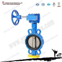 Manual gearbox Cast Iron wafer butterfly valve dn50