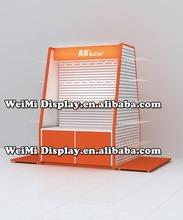 metal display rack, pegboard display stand with hooks display /tape display rack/retail merchandise display ,floor pen display