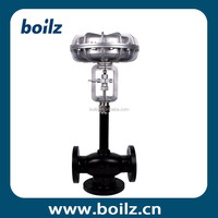 Textile application 3 way pneumatic hot oil flow control valve