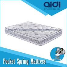 2015 Luxury Furniture Kerala Pocket Spring King Coil Mattress With Brocade Fabric