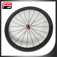 FUSHENG 50mm tubular carbon bicycle wheel Road 50T bike wheelset