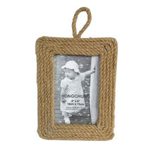 Hemp Rope Wooden Photo Frame For Home Decor