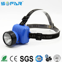 Promotional plastic cheap 0.5w camping headlamp aa dry battery waterproof battery powered led headlight