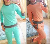 Women Sweatshirt Pants 2 Pcs Custom Made Wholesale Sweat Suits