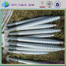 High quality hot dip galvanizing heavy duty ground anchor & ground screw pile for solar panel mounting sysem