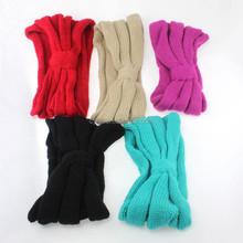 Fall and winter keep warm knitted headband stretch woolen widen headband