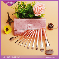 2016 Wholesale OEM girls best professional natural makeup brush set and free samples new products synthetic hair makeup brushes