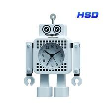 HSD Newest Robot Metal Alarm Clock Table Clock MC2304BK