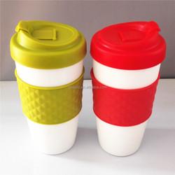 Plastic cup colorfull double wall tumbler plastic coffee mug coffee cups