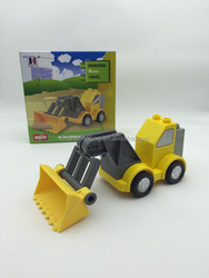 Toy Bricks Car Toy, DIY Blocks Cars,Promotional pallet truck toy plastic toy truck building block car