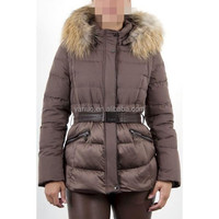 real fur winter coat ,new feeling women clothing,down jacket with removable/detachable sleeve
