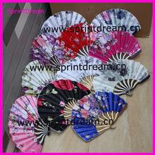 Nicelyl Chinese silk fan, Dragon bamboo fan