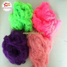 Wholesale solid dyed colored polyester staple fiber for padding