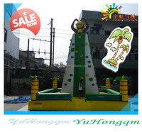 Best-selling outdoor sports games inflatable climbing wall playground for kids