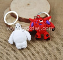 Beast corps baymax big hero robots to light fat doll 3 d silicone key chain