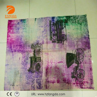 2015 fashionable printed old gharry lady 100%wool scarf