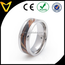 China Professional Titanium Ring Supplier, Mens Wedding Ring Jewelry Titanium Mossy Oak Shawdowgrass Camo Ring, 8MM, Comfort Fit