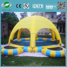 New products 0.6/0.9mm PVC inflatable adult swimming pool