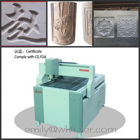 Gweike desktop cnc router WK6090 could cut wood, copper and aluminum