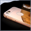 Wholesale alibaba for iphone 6 metal bumper mirror case/Gold aluminum bumper and cover case for huawei p8 lite