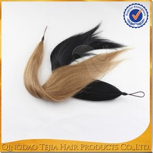 synthetic pony tail ,factory direct price horse tail hair