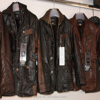 used leather jackets men leather jacket with fur collar