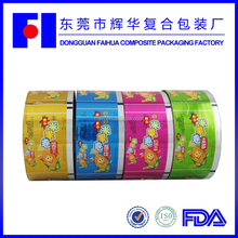 Food packaging 4 rolls customize design free samples label printing and shrink film