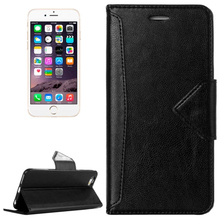 HAWEEL PU Leather Magnetic Phone Case with Holder & Card Slots for iPhone 6(Black)