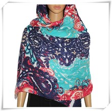 Bohème russe polyester imprimé foulard hmong gros