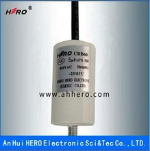 China HERO excellent CBB60 5uF 450V run Capacitor for washing mashion