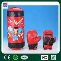 """17"""" 2015 Hot junior kids boxing set,kids punching bags PU leather gloves,boxing punching ball set"""