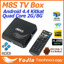 Original Smart M8S Amlogic S812 Quad Core Internet Android TV Box Android 4.4 2G/8G Set Top Box WIFI HD Android M8S tv box