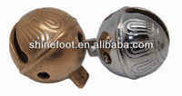 "1.85"" brass jingle bell with antique embossed pattern for various usages,S1-B01(A095)"