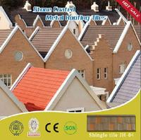 Best quality with CE and ISO9001 cheap stone coated metal roof tile/ asphalt roofing shingle pvc plastic roof tile