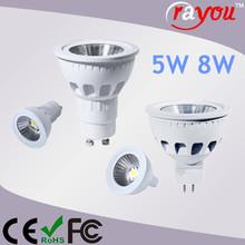 Halogen gu5.3 led replacement, white finish 8w mr16 spotlight, gu5.3 led lamp for interior lighting