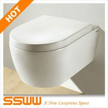 CE approved 4.5L water saving easy installation wall hung toilet