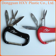Hua Xing Yong Hot selling 2014 D shaped colored aluminum scissors and knife keychain