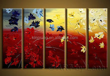 Abstract flower 5 panels canvas pictures
