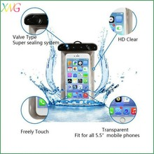 new products 2015 promotional PVC waterproof cell phone bag case for Iphone