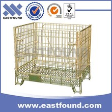 China Supplier Warehouse Storage Folding Wire Mesh Cage