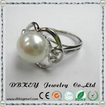 Korean fashion jewelry wholesale boutique diamond pearl ring personality